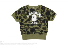 1st Camo College Logo Short Sleeve Crewneck Sweatshirt by A Bathing Ape