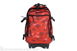 Color Camo Carry On Suitcase Backpack by A Bathing Ape