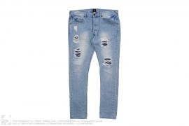 Light Wash Distressed Jeans by 10deep