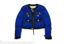 Gold Accent Short Down Jacket by DSquared