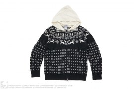 Reindeer Knit Zip Hoodie by BBC/Ice Cream