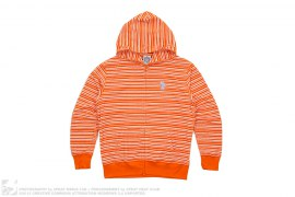 Striped TerryCloth Moonman Full Zip Hoodie by BBC/Ice Cream