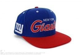 NY Giants Snapback Cap by Mitchell & Ness