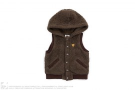 Milo Boa Puff Hooded Vest by A Bathing Ape
