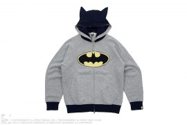 Batman Angora Wool Blend Knit Full Zip Hoodie by A Bathing Ape x DC Comics