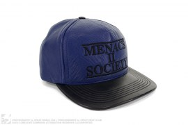 Menace Leather 5-Panel Cap by Supreme