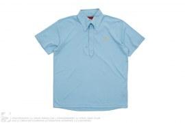 Swan Logo Button Down Collar Sports Polo Shirt by Evisu