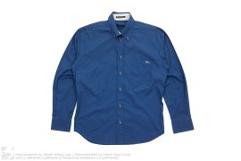 Seagull Logo  Button Down Long Sleeve Shirt by Evisu