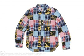 Patchwork Button Up Shirt by A Bathing Ape