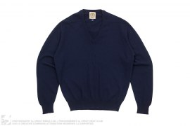 Bee Line V-Neck Cashmere Knit Sweater by BBC/Ice Cream