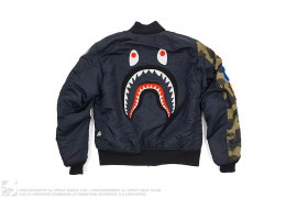 1st Camo Sleeve Shark MA1 Bomber by A Bathing Ape