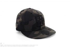 Run BAPE Logo Color Camo Logo Fitted Baseball Cap by A Bathing Ape x New Era