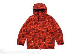 Color Camo Snowboard Jacket by A Bathing Ape