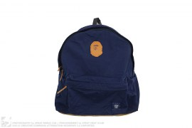 Apehead Patch Suede Bottom Premium Backpack by A Bathing Ape
