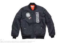 Applique MA1 Bomber Jacket by A Bathing Ape x Undefeated