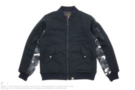 City Camo Accent Cotton Sweat MA1 Bomber Jacket by A Bathing Ape