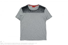 Two Tone Grey Tee by Hugo Boss