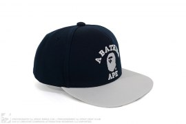 College Logo Two Tone 1st Camo Brim Snapback by A Bathing Ape