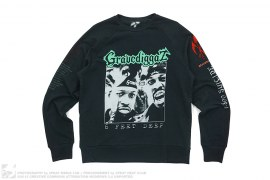 mens sweatshirt Gravediggaz Tribute Raglan Longsleeve Crew by 3peat x Dbruze