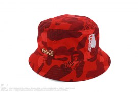 Coca Cola Camo Bucket Hat by A Bathing Ape x Coca-Cola