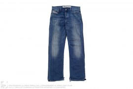Straight Leg Vintage Wash Denim by Diesel