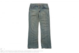 Straight Leg Vintage Wash Denim by E Male Denim