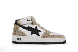 Snakeskin Bapesta Mid by A Bathing Ape