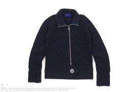 Bapy Big Button Knit Zipper Sweater by A Bathing Ape