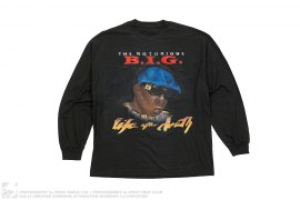 Notorious BIG Biggie Life After Death Airbrush Longsleeve Tee by Dbruze