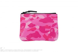 Color Camo Leather Coin Case Wallet by A Bathing Ape