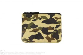 1st Camo Leather Coin Case Wallet by A Bathing Ape