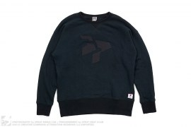 Classic Logo Black Friday Crewneck Sweatshirt by 3peat LA x Ebbets Field