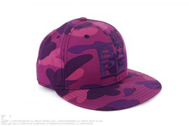 Color Camo RUN DMC Logo Fitted Baseball Cap by A Bathing Ape