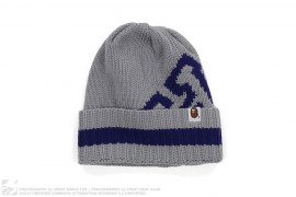 Cuffed Ribbed Knit Border Beanie by A Bathing Ape
