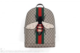 mens bag Web Animalier Bee Backpack by Gucci