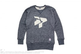 mens sweatshirt Classic Logo Heather Crewneck Sweatshirt by 3peat x Ebbets Field