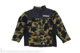 1st Camo Boa Fur Stand Collar Jacket by A Bathing Ape