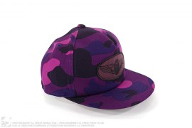 Color Camo Wing Apehead Patch Snapback by A Bathing Ape
