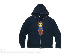 Milo Superman Full Zip Hoodie by A Bathing Ape x DC Comics