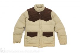 Apehead Elbow Patch 2 Tone Classic Down Jacket by A Bathing Ape