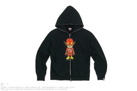 Milo Flash Full Zip Hoodie by A Bathing Ape x DC Comics