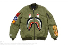 Front Facing Shark MA1 Bomber Flight Jacket by A Bathing Ape