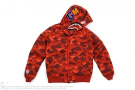 Color Camo WGM Wappen Shark Puff Down Jacket by A Bathing Ape