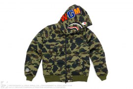 1st Camo WGM Wappen Shark Puff Down Jacket by A Bathing Ape