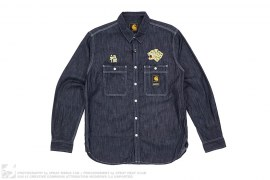 NHCH Long Sleeve Chambray Button Up Shirt by Neighborhood x Carhartt