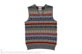 V-Neck Sleeveless Wool Vest by A Bathing Ape