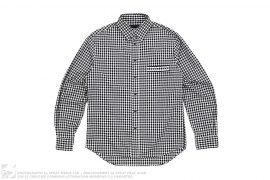 Gingham Chomper Pocket Button-Up by OriginalFake