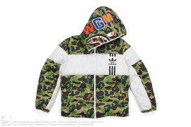 mens jacket ABC Camo Shark Down Jacket by A Bathing Ape x Adidas