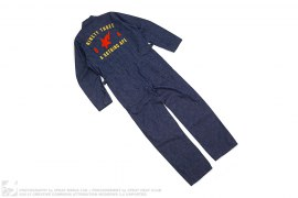 Chain Stitch Logo Denim Jumpsuit by A Bathing Ape