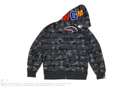 Text Color Camo WGM Wappen Shark by A Bathing Ape